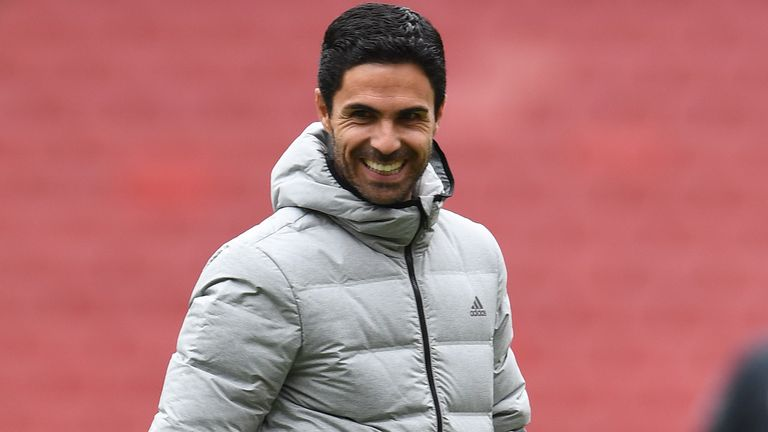 Mikel Arteta has Arsenal in ninth place, eight points off the top four