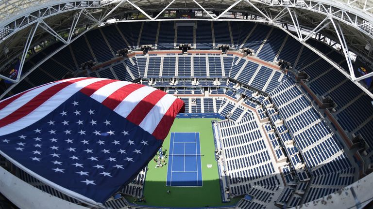 There will be no spectators in attendance on Arthur Ashe Stadium