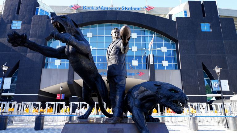 The statue of former Carolina Panthers owner Jerry Richardson has been removed from the stadium after nearly 25 years