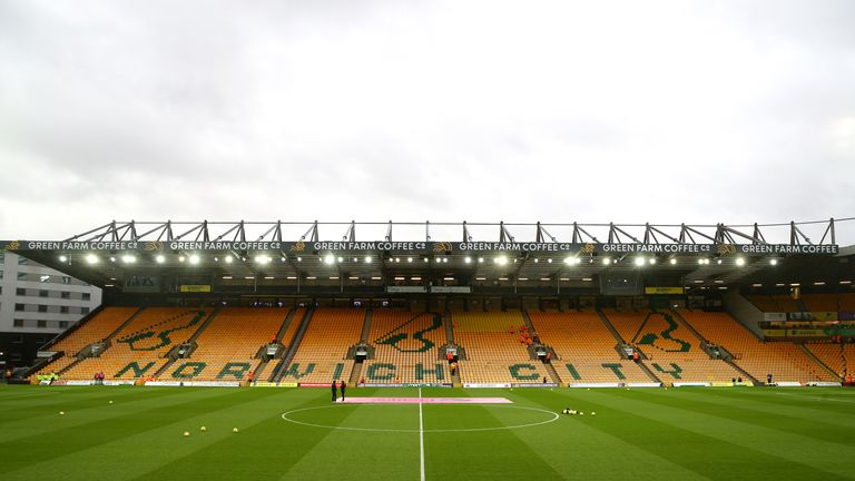 Norwich will host Southampton behind-closed-doors on Friday