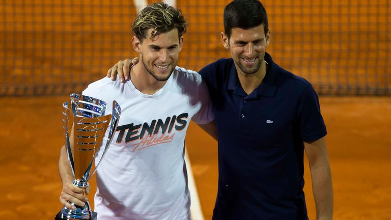 Dominic Thiem took part in Novak Djokovic's Adria Tour exhibition event