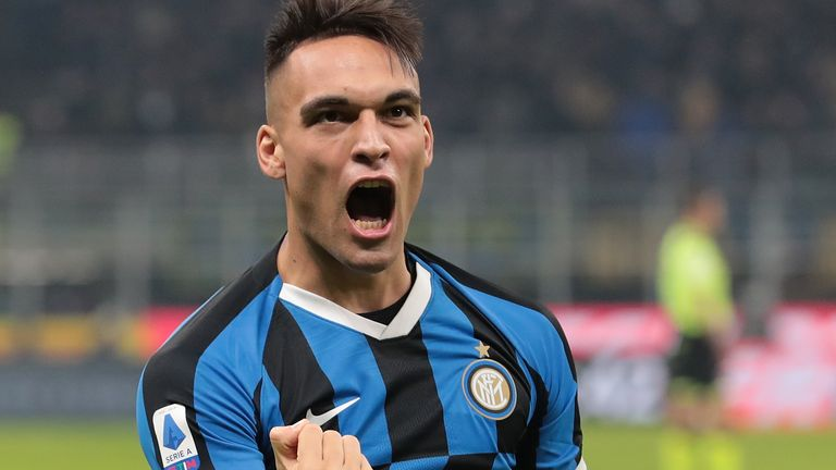 Manchester City have earmarked Lautaro Martinez as a potential long-term replacement for Sergio Aguero