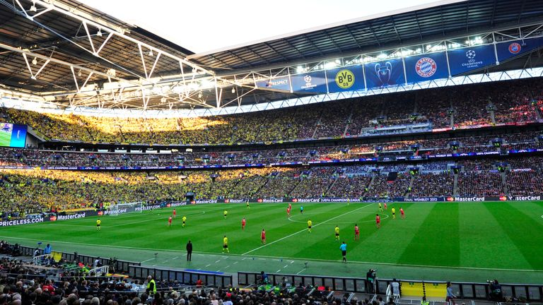 Wembley last hosted the Champions League final in 2013