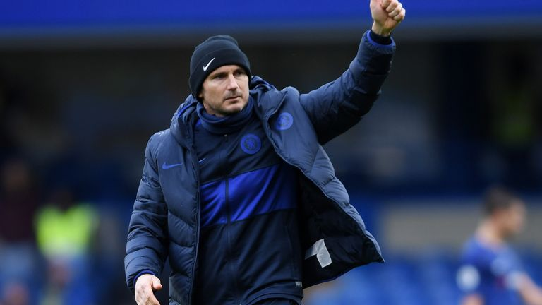 Frank Lampard is aiming to secure a Champions League spot for Chelsea in his first season in charge