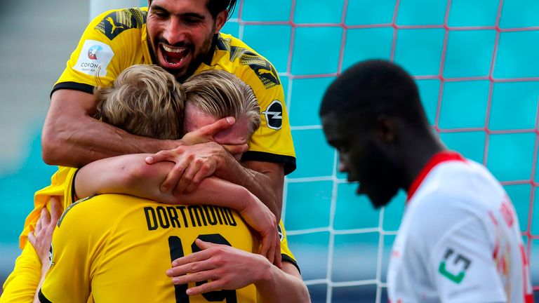 Erling Haaland continued his sensational goalscoring record in Dortmund's victory over Leipzig