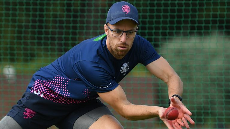 Leach returned to individual training at Somerset earlier this month and is now with the England group at The Ageas Bowl