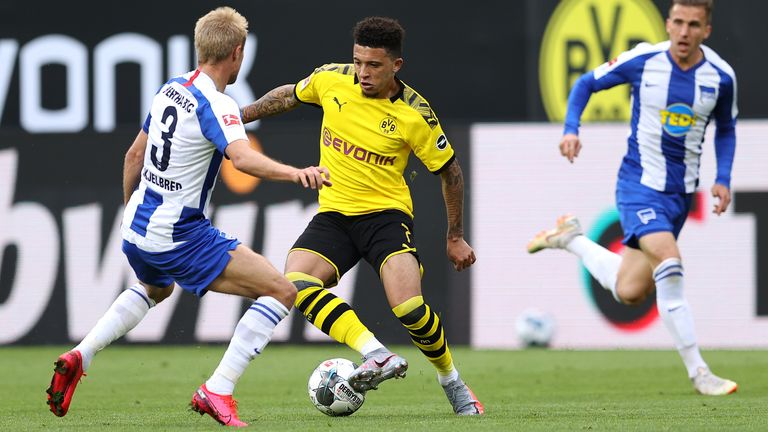 Sancho was in action for Dortmund against Hertha Berlin on Saturday, a game in which Can hit the winner