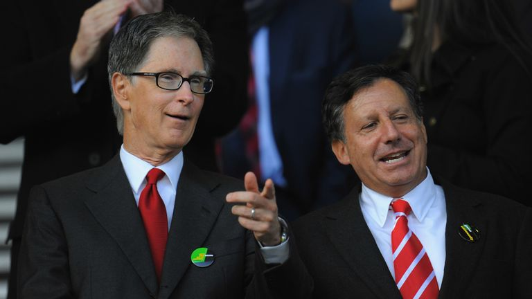Werner with Liverpool principal owner John W. Henry