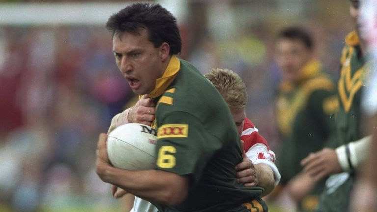 Laurie Daley was among the visitors to Stevo's travelling museum in Australia