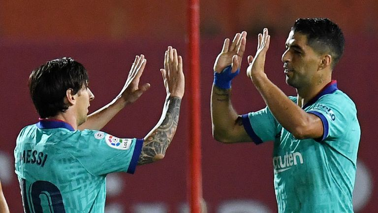 Luis Suarez formed a prolific partnership with Lionel Messi at Barcelona
