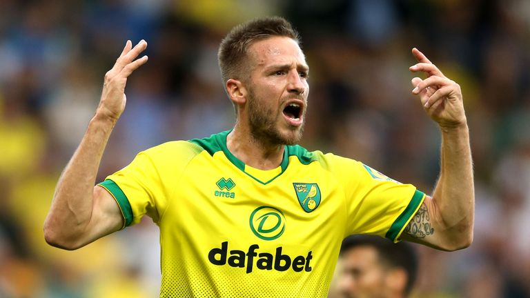 Norwich City's Marco Stiepermann has since recorded two negative coronavirus tests