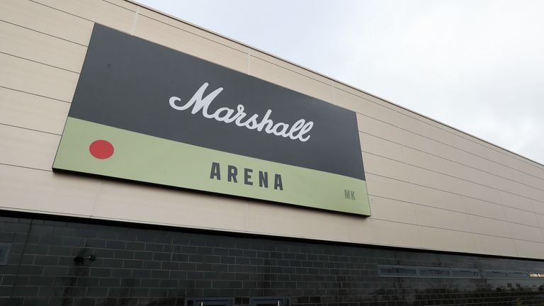 General view outside the Marshall Arena next to Stadium MK