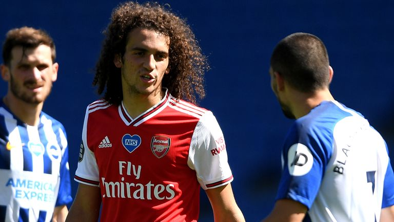Matteo Guendouzi clashed with Neal Maupay at the Amex Stadium