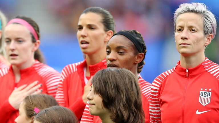 US players have been required to stand during the national anthem since a rule was passed in 2017