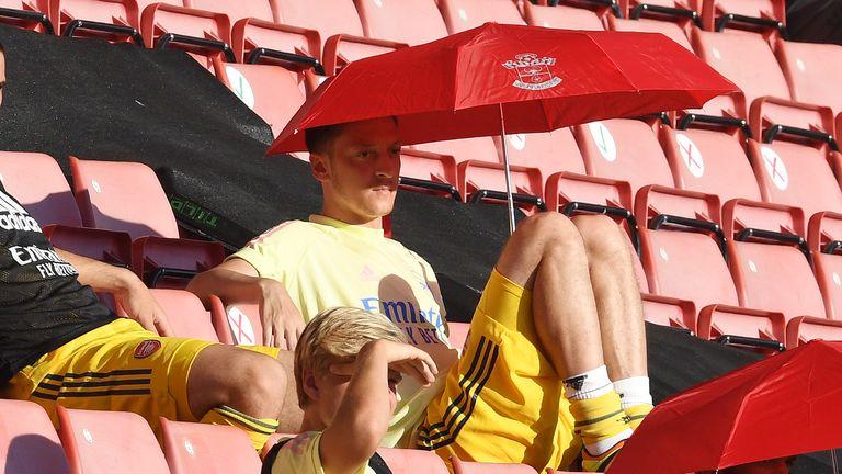 Arsenal midfielder Mesut Ozil's star has fallen just as Havertz is rising