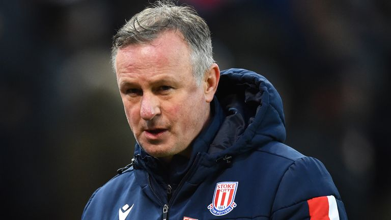 Stoke manager Michael O'Neill tested positive on Tuesday