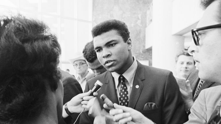 Former heavyweight boxing champion Muhammad Ali was renown for his social and anti-racist activism