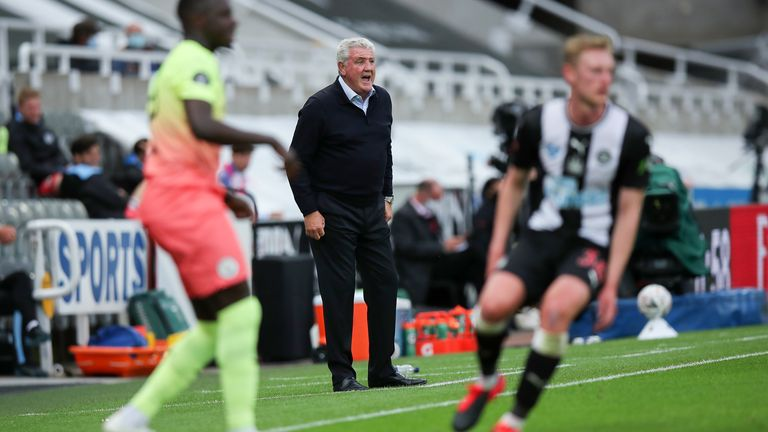 Newcastle were beaten by FA Cup holders Manchester City at St James' Park on Sunday