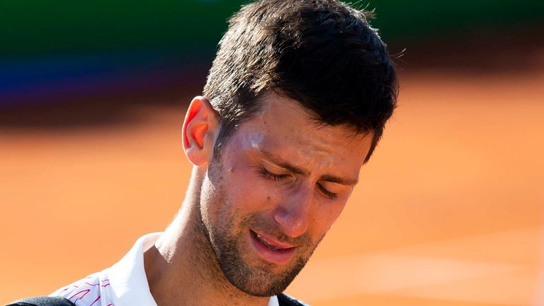 Novak Djokovic was in tears after winning his final round robin match at the charity tournament he hosted