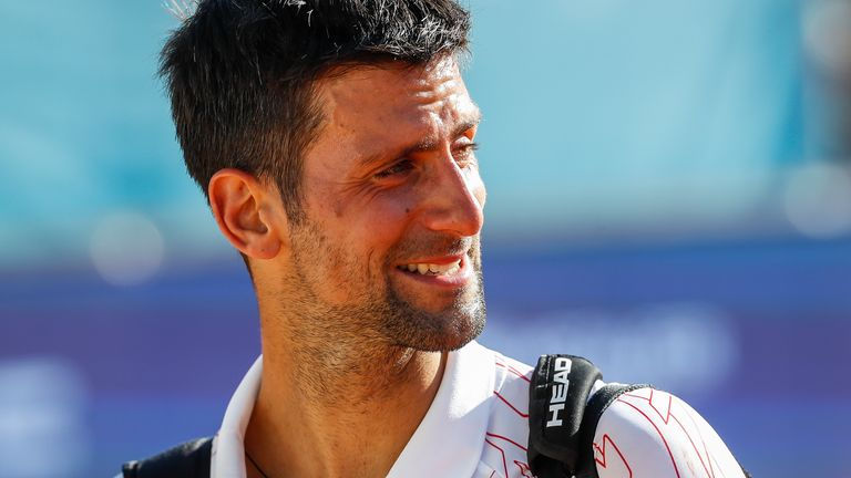 Novak Djokovic said it was not easy to decide to play at the US Open