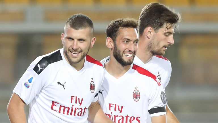 Ante Rebic was on target in AC Milan's victory over Lecce