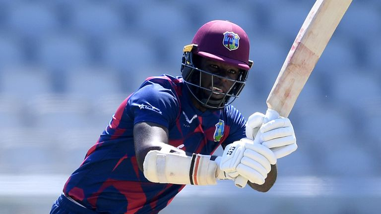 Sheyne Moseley impressed, top-scoring with an unbeaten 83, but he is currently among the West Indies' reserves