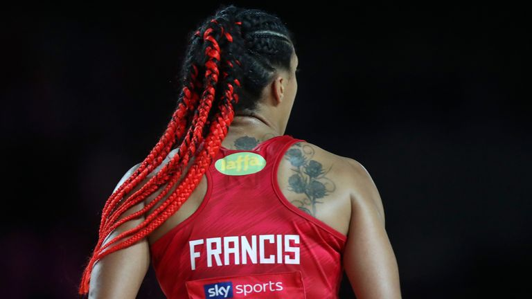 Francis excelled back in an England dress