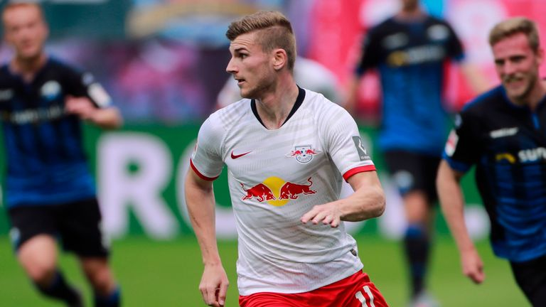Werner was in action for RB Leipzig against Paderborn on Saturday