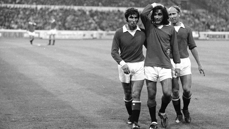 Dunne played alongside George Best and Bobby Charlton at Man United