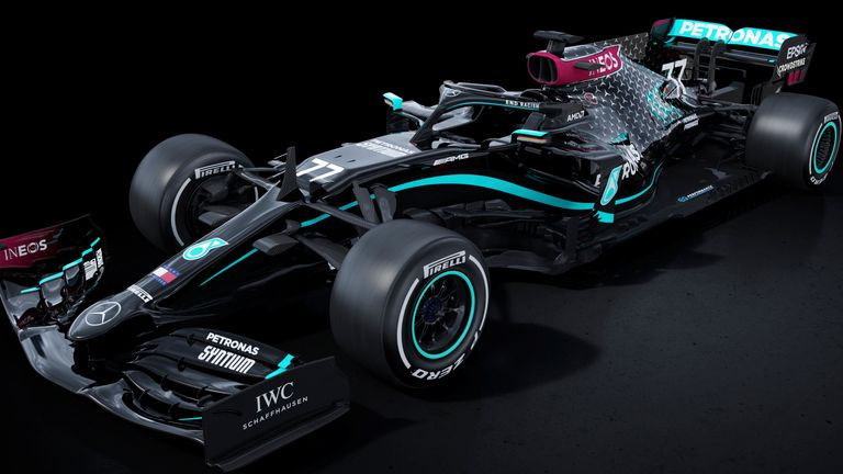 Mercedes will drive in an all-black car this season as a visual pledge to the fight against racism