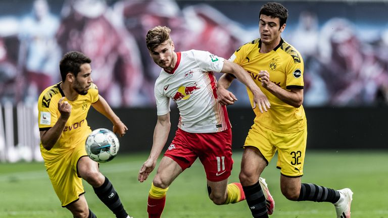 Timo Werner fired a blank as RB Leipzig were beaten by Dortmund