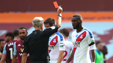 fifa live scores - Roy Hodgson: Christian Benteke's red card 'inexcusable' after Crystal Palace defeat