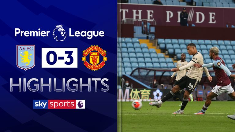 FREE TO WATCH: Highlights from Manchester United's win over Aston Villa in the Premier League