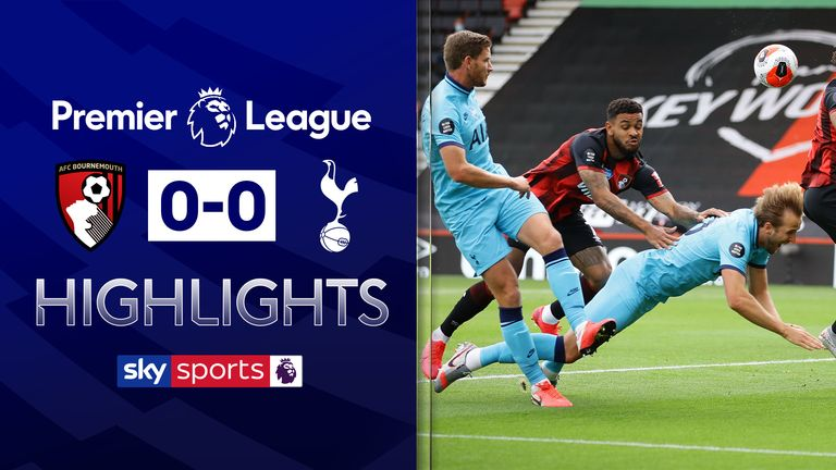 FREE TO WATCH: Highlights from Tottenham's draw with Bournemouth