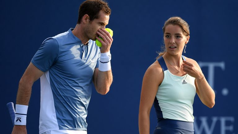 Murray played alongside Jodie Burrage in Battle Of The Brits tournament this week