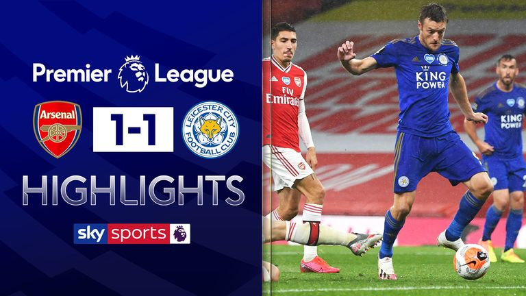 FREE TO WATCH: Highlights from Arsenal's draw with Leicester