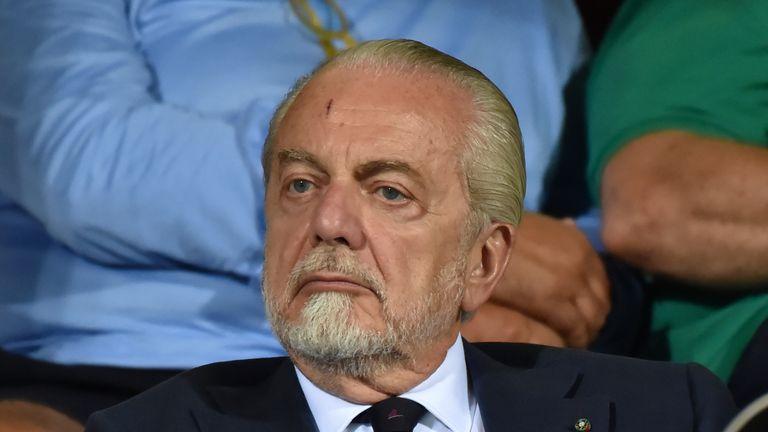 Napoli president Aurelio De Laurentiis has doubts about playing their Champions League return leg at the Nou Camp