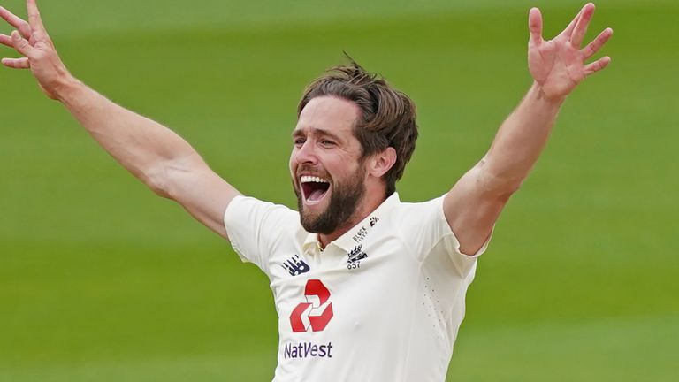 Chris Woakes demolished West Indies' second innings with five wickets in the series decider at Old Trafford