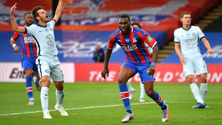 Christian Benteke scored for Palace 82 seconds after Abraham's strike