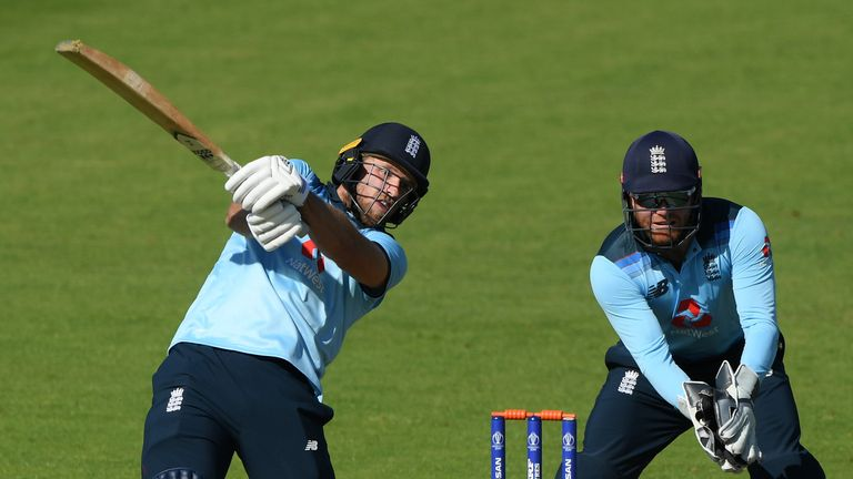 David Willey (L) and Jonny Bairstow both played in England's internal warm-up match at the Ageas Bowl ahead of the ODI series against Ireland