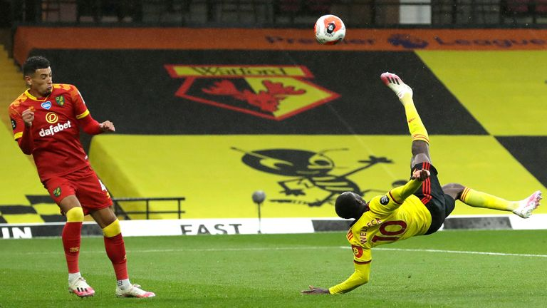 Danny Welbeck scores a spectacular winner for Watford against Norwich