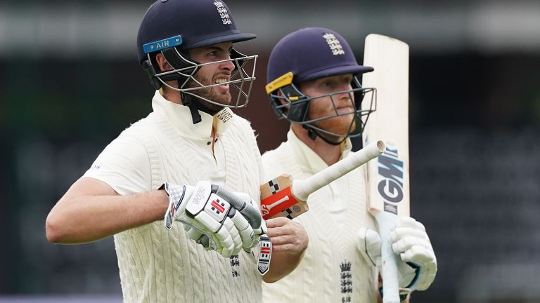 Dom Sibley and Stokes shared a 260-run partnership in England's first innings