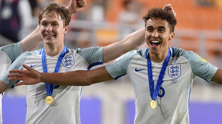 Dominic Calvert-Lewin and Kieran Dowell were both part of England's U20 World Cup success