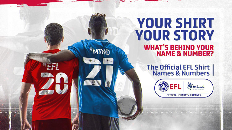 The EFL and mental health charity partner Mind's announcement comes into effect from next season