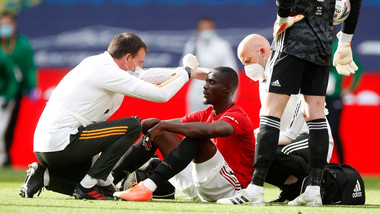 Eric Bailly suffered a head injury during Man Utd's FA Cup semi-final with Chelsea