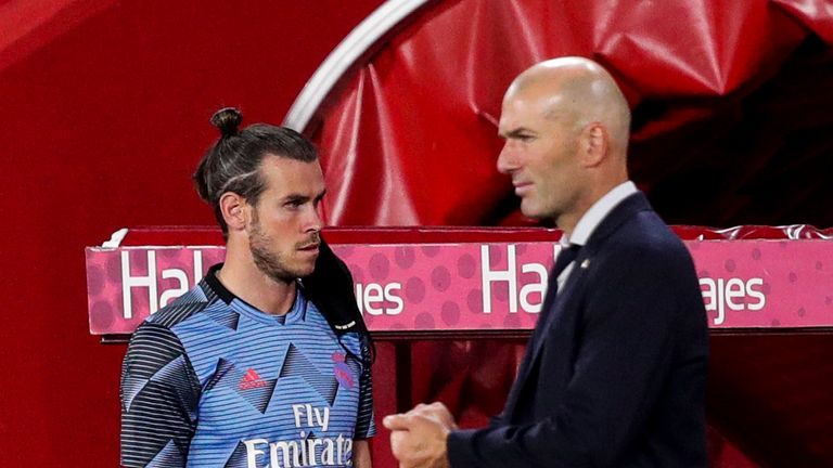 Bale has struggled to fit into Zinedine Zidane's plans