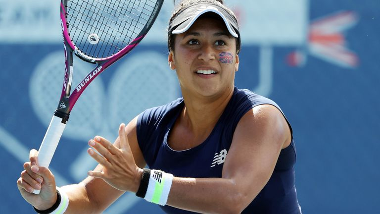 Heather Watson is getting used to the 'stress' of playing matches again