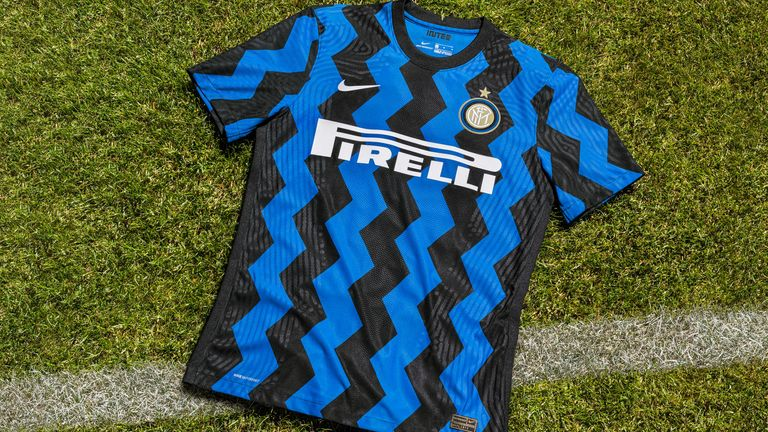 Inter's home kit by Nike rearranges traditional stripes in zigzags