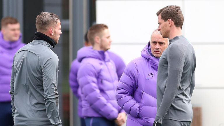 Toby Alderweireld (left) and Jan Vertonghen have been out of favour under Mourinho since the return of football