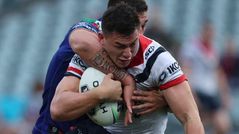 Joseph Manu's try helped secure victory for the Roosters